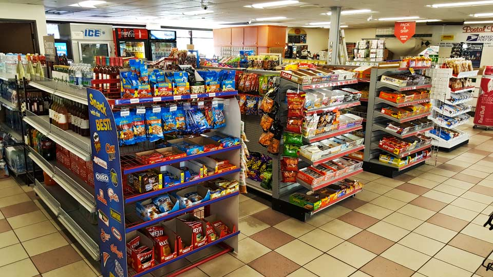 Come visit the massive convenience store at Oxnard Shell